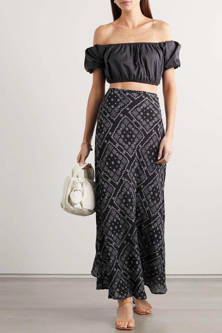 RIXO Kelly floral-print silk crepe de chine maxi skirt