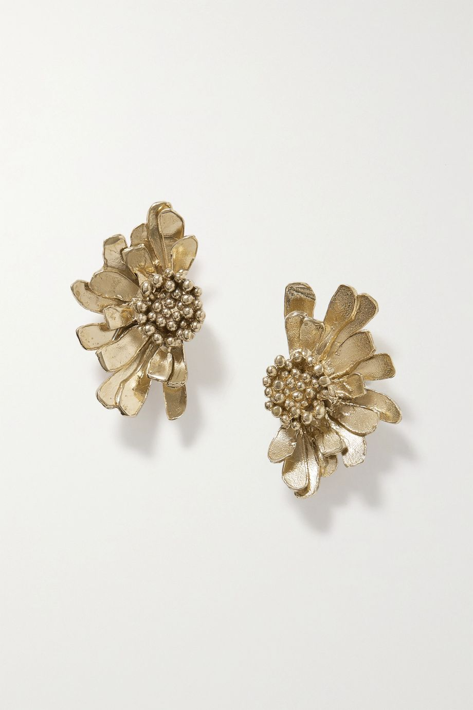 STVDIO Daisy gold-tone earrings