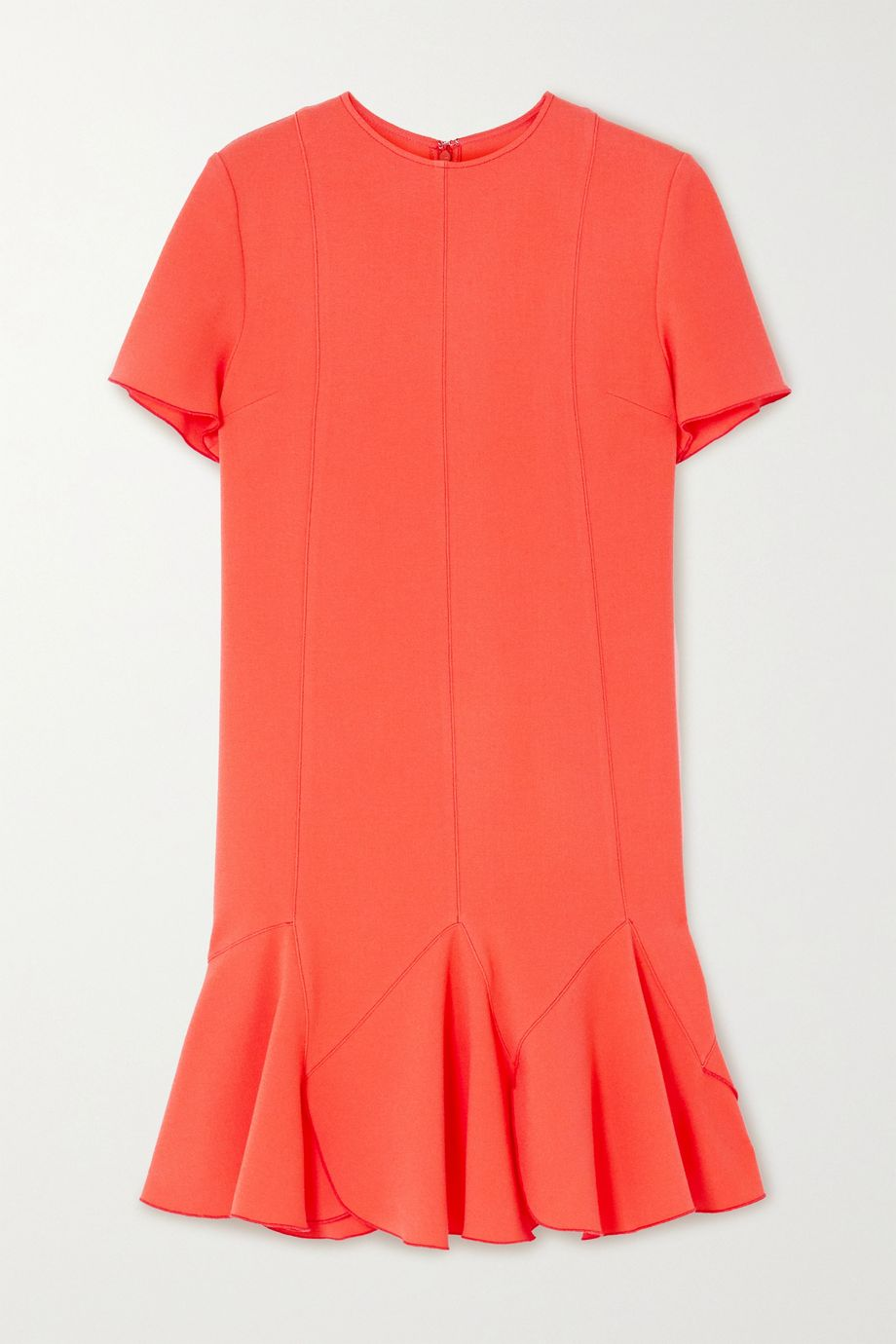 Victoria, Victoria Beckham Ruffled crepe mini dress