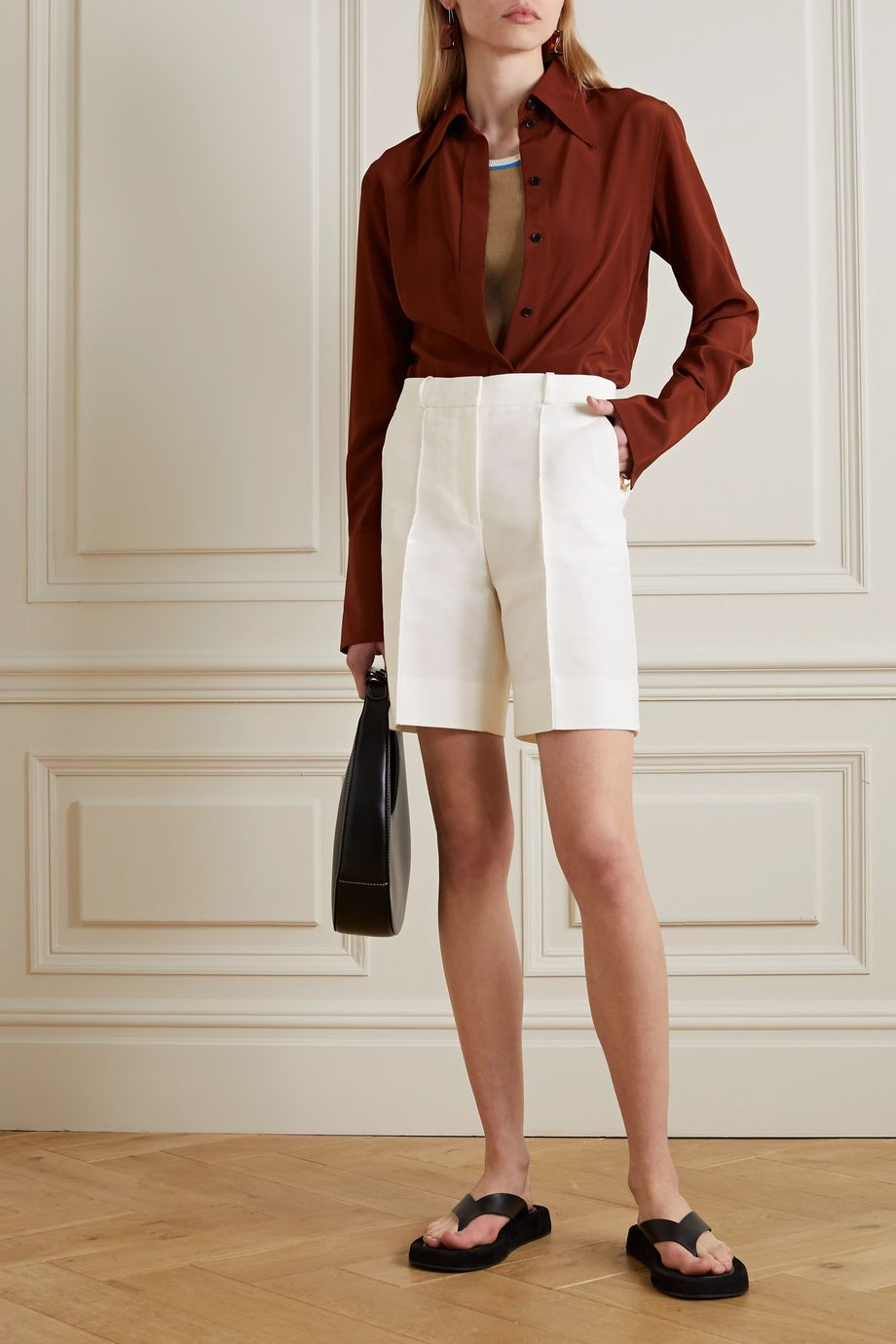 Victoria, Victoria Beckham Cotton-blend shorts