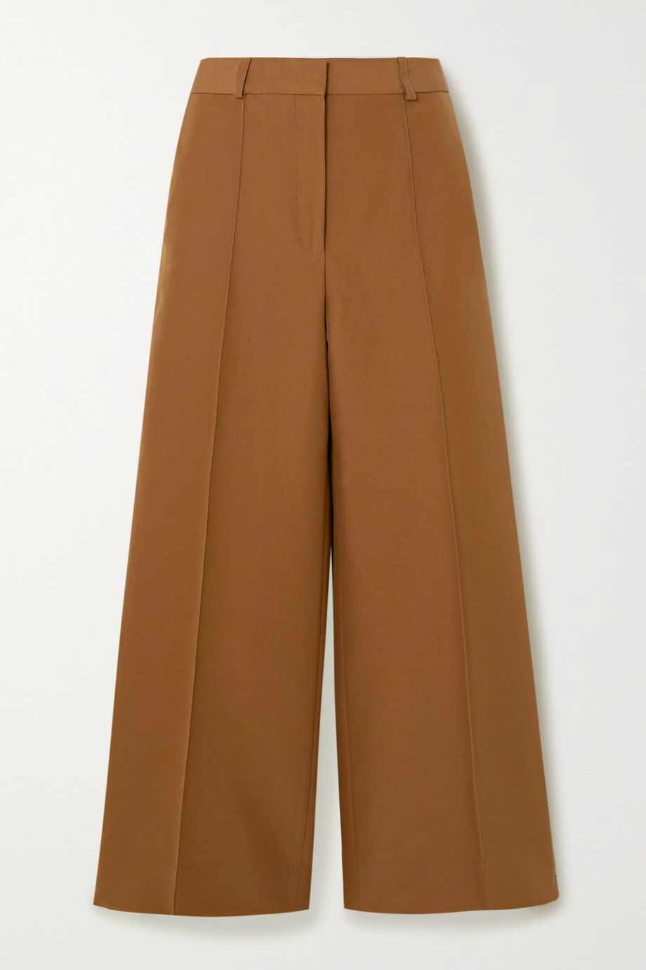 Victoria, Victoria Beckham Cropped cotton-blend twill wide-leg culottes