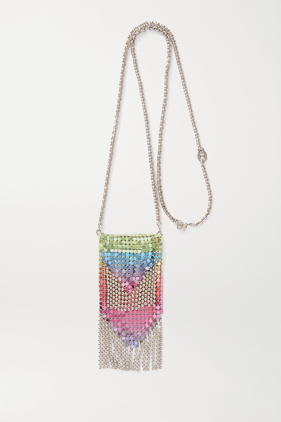 Paco Rabanne Dégradé silver-tone chainmail necklace
