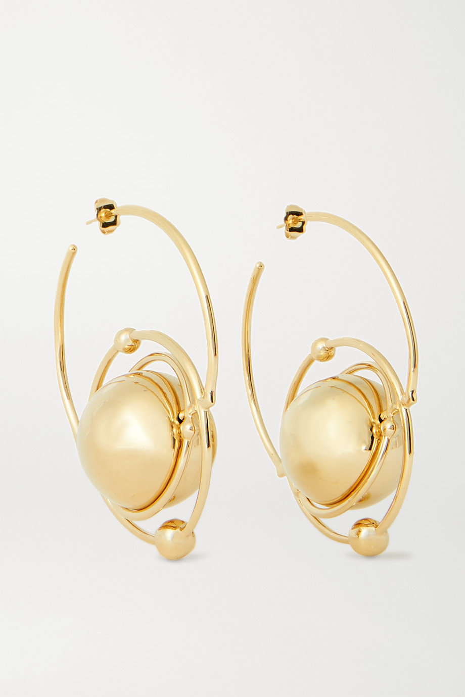 Paco Rabanne Saturn Creole gold-tone hoop earrings