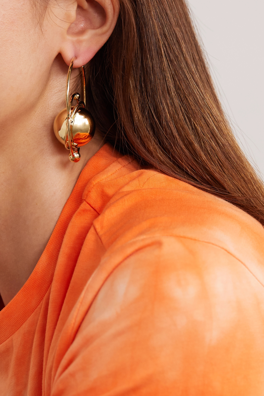 Paco Rabanne Saturn Creole gold-tone hoop earrings