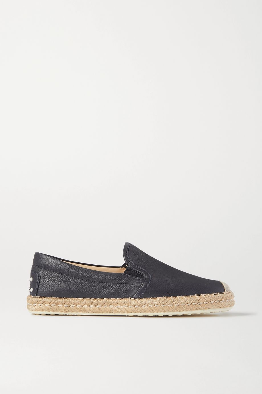 Tod's Gomma textured-leather espadrilles