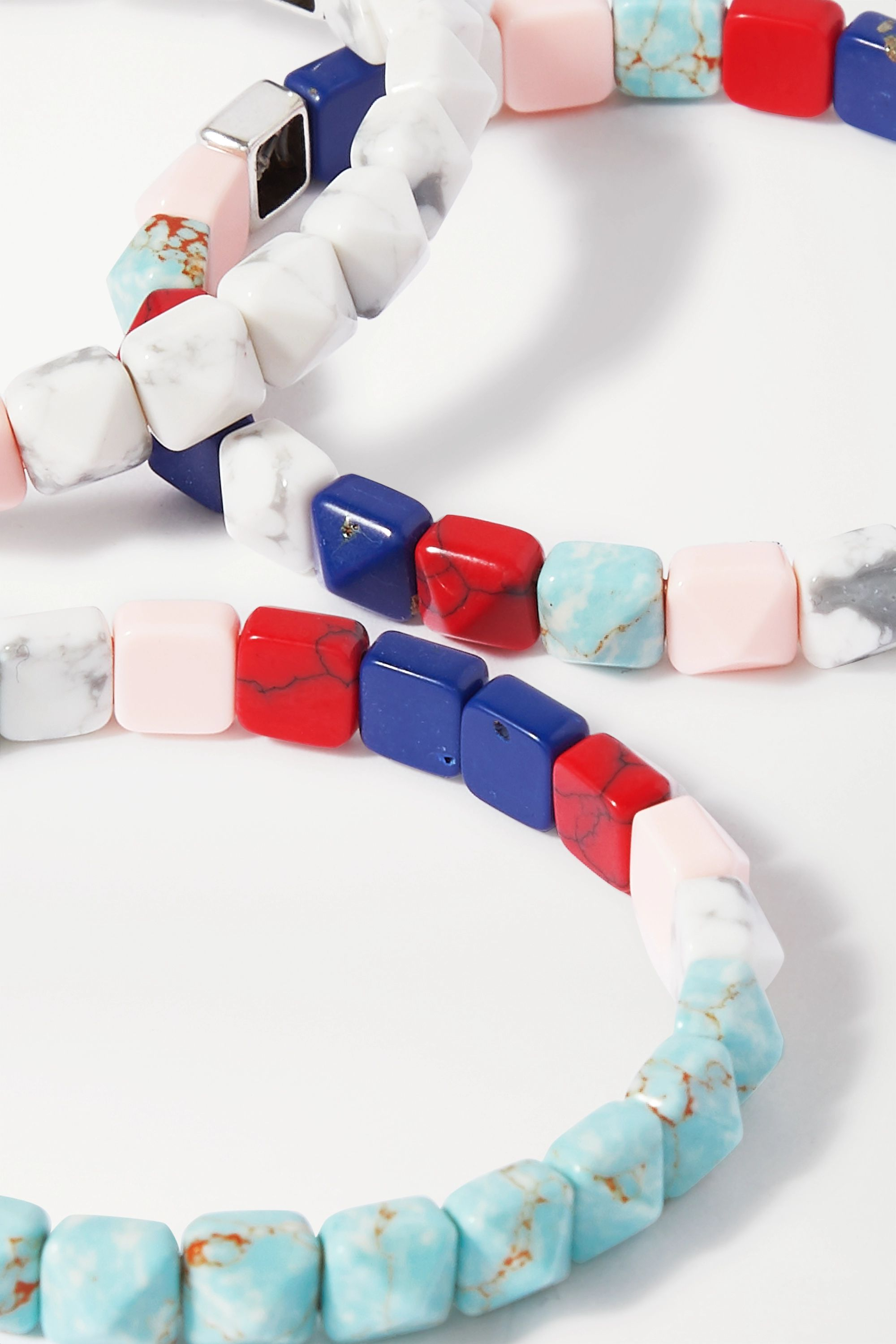 Isabel Marant Set of three silver-tone and resin bracelets