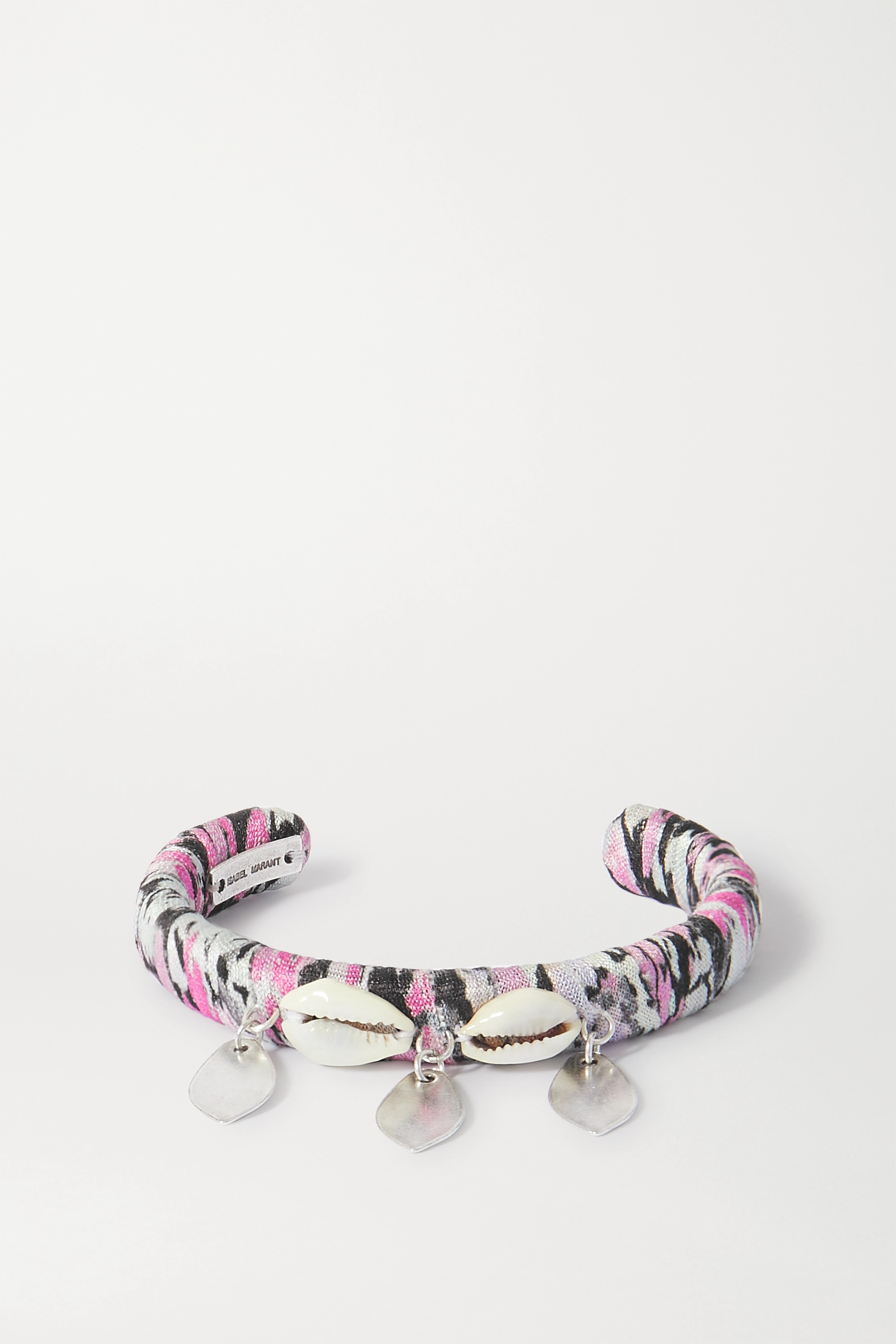 Isabel Marant Silver-tone, shell and satin cuff
