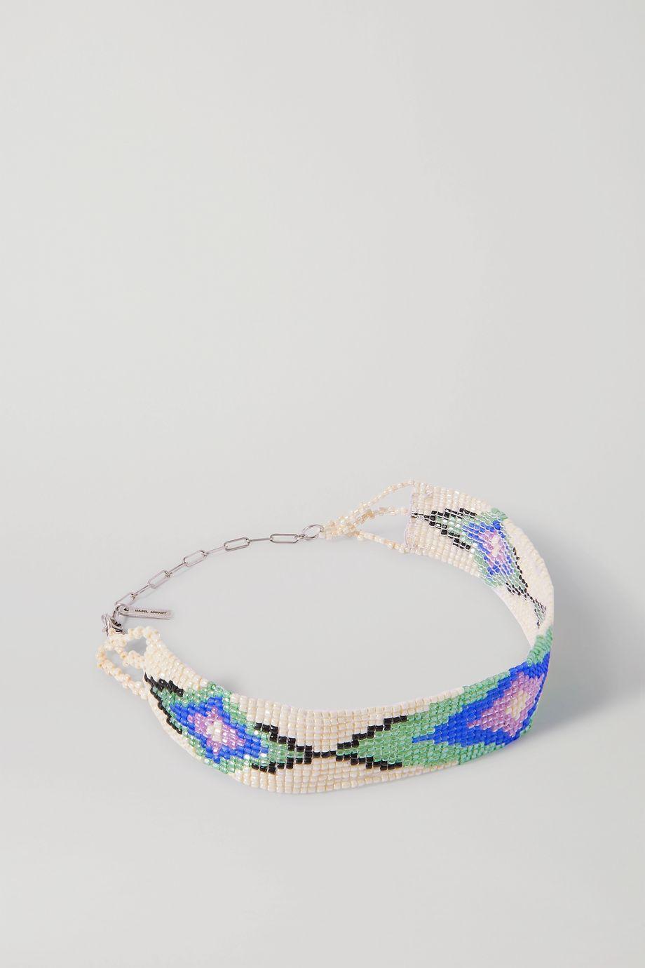 Isabel Marant Kette mit Zierperlen und silberfarbenen Details