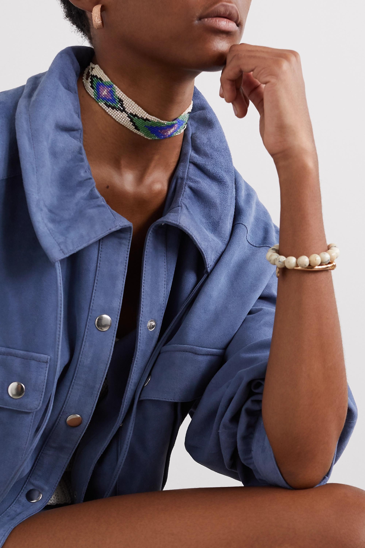 Isabel Marant  Tour de cou en métal argenté à perles
