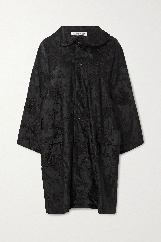 Comme des Garçons Comme des Garçons Floral-jacquard coat