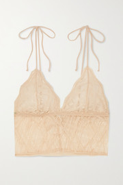 The Great Eros Sonata stretch-lace soft-cup triangle bralette