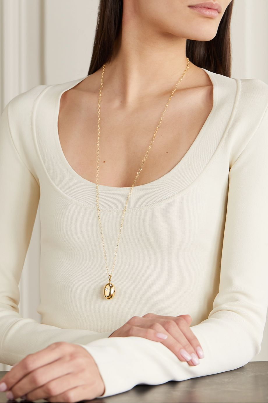 Loquet + Chantal Conrad Lumiere 14-karat gold diamond necklace