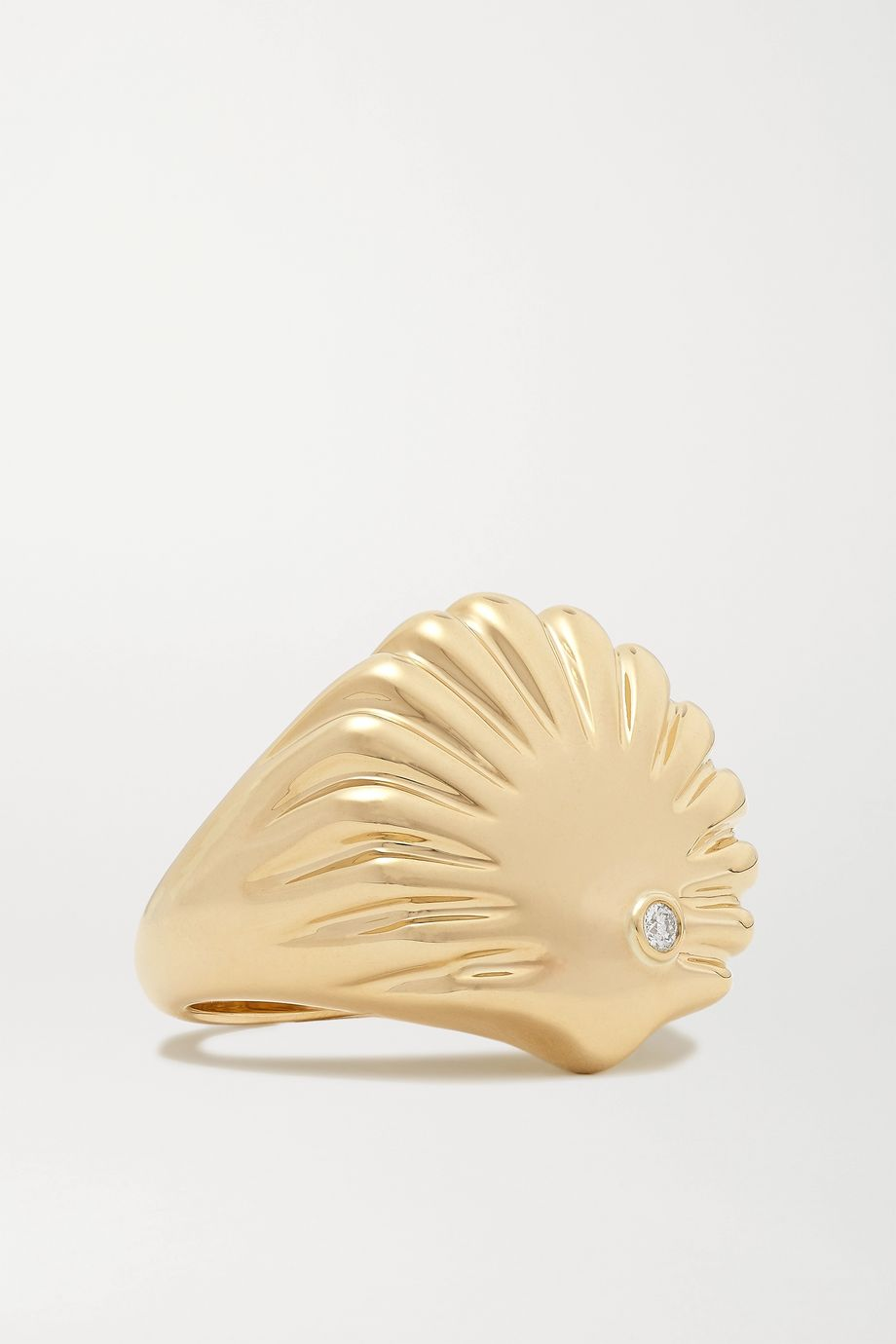 Yvonne Léon 9-karat gold diamond ring