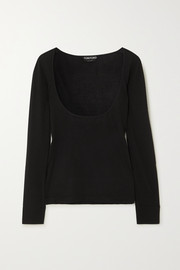 TOM FORD Cashmere and silk blend top