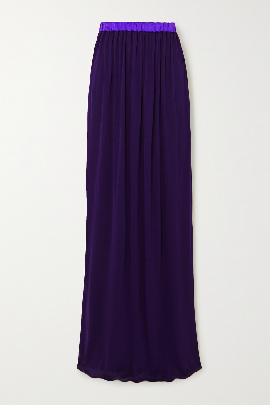 TOM FORD Gathered two-tone georgette maxi skirt