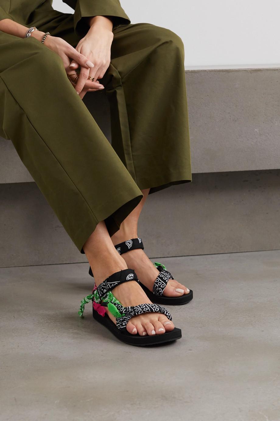 Arizona Love Trekky 印花薄纱边饰帆布厚底凉鞋