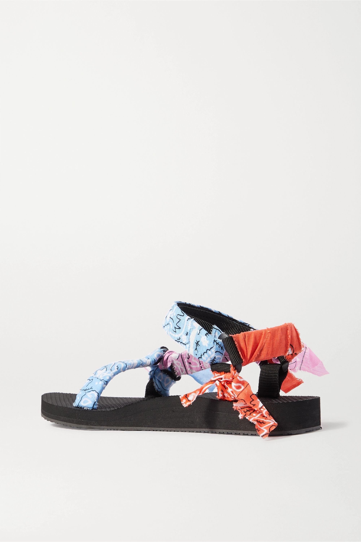Arizona Love Trekky printed gauze-trimmed canvas platform sandals