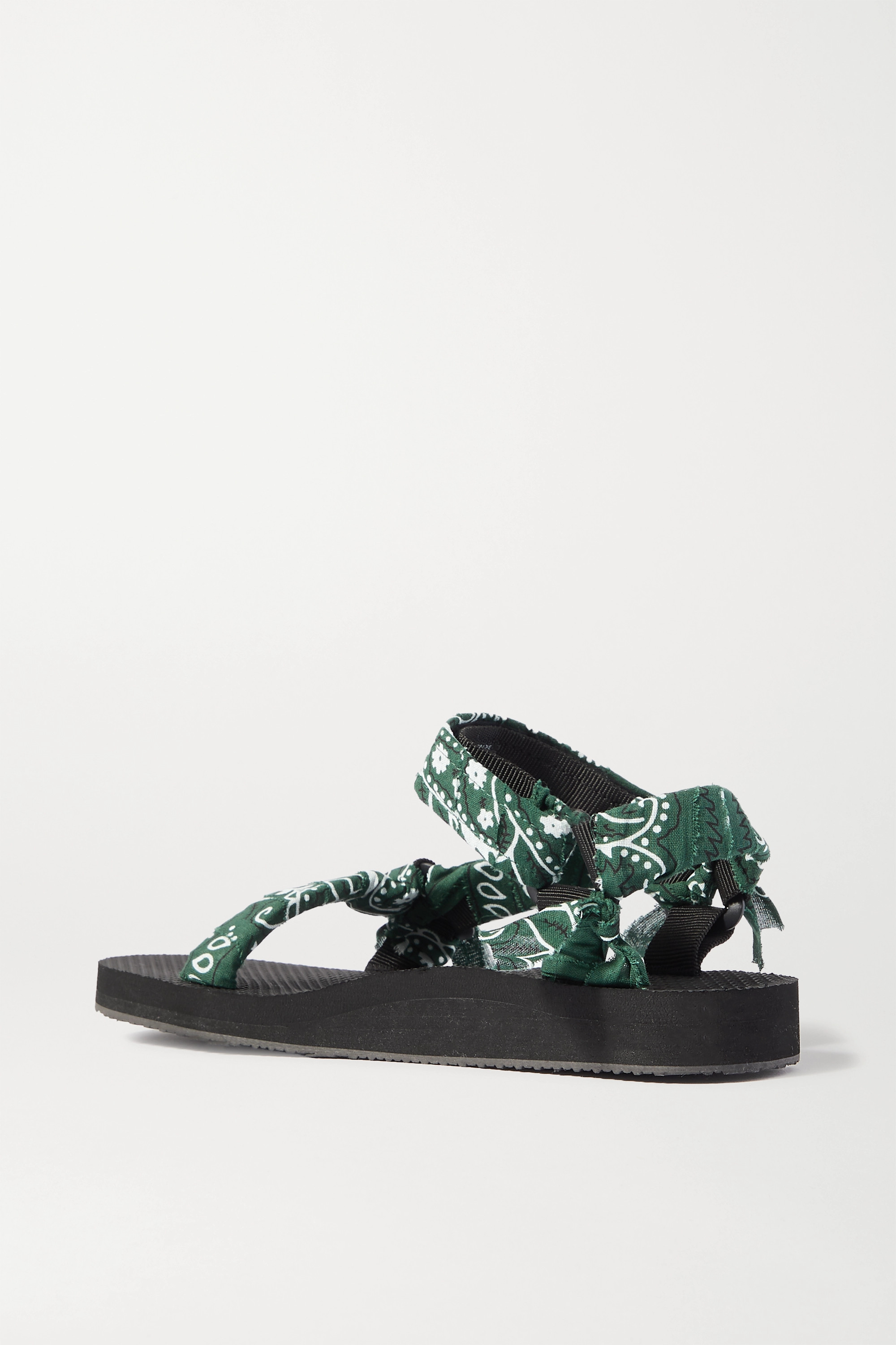 Arizona Love Trekky printed gauze-trimmed canvas platform sandals