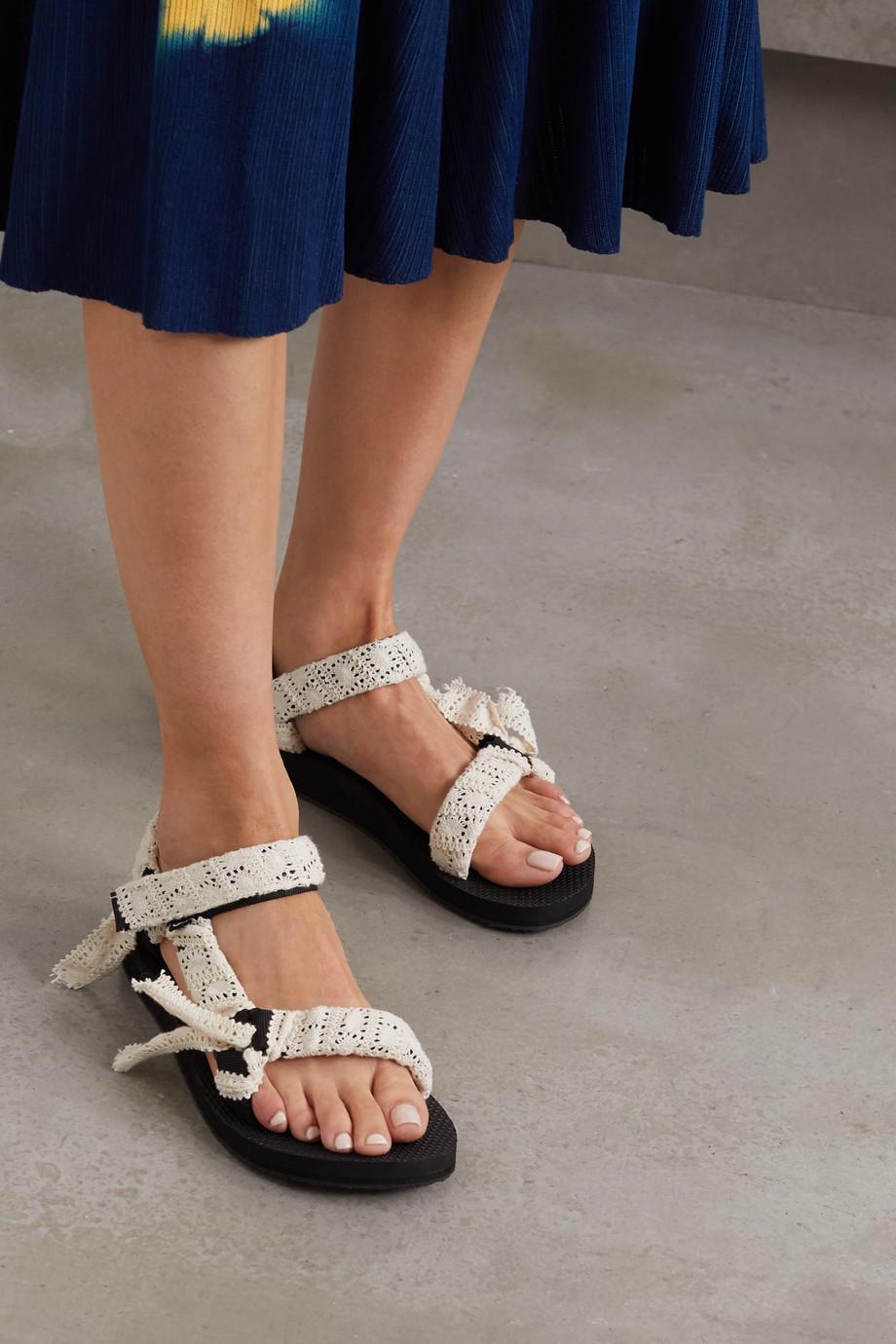 Arizona Love Trekky Fun 钩编蕾丝帆布厚底凉鞋
