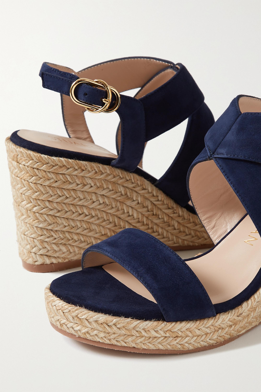 Stuart Weitzman Ellette suede espadrille wedge sandals