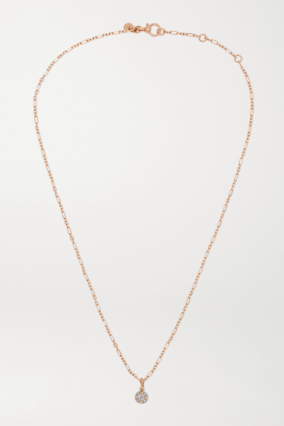 Pomellato M'ama non M'ama 18-karat rose gold diamond necklace