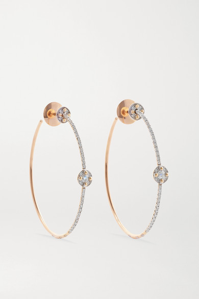 Pomellato M'ama Non M'ama 18-karat Rose Gold Diamond Hoop Earrings