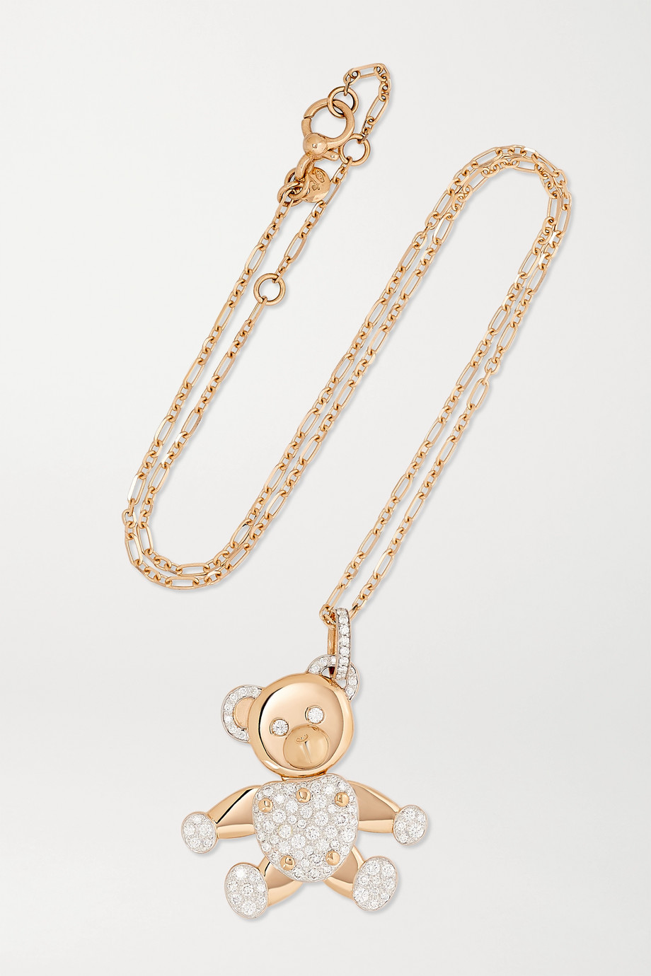 Pomellato Orsetto Large 18-karat rose gold diamond pendant