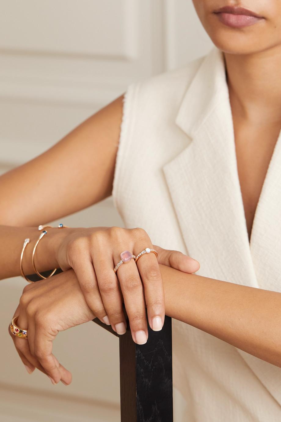 Pomellato Nudo Petit 18-karat rose gold multi-stone ring
