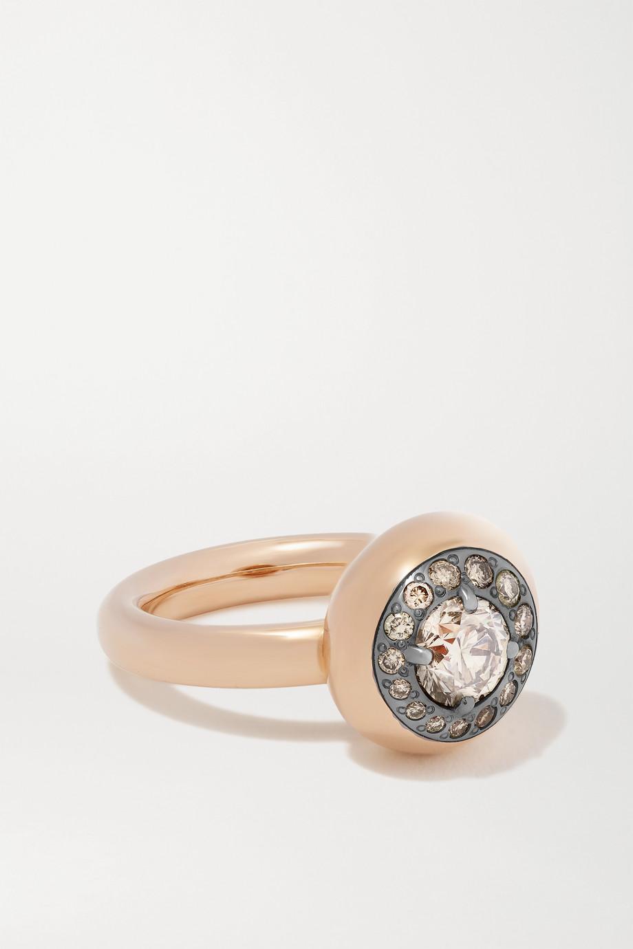 Pomellato Bague en or rose 18 carats et diamants Nuvola