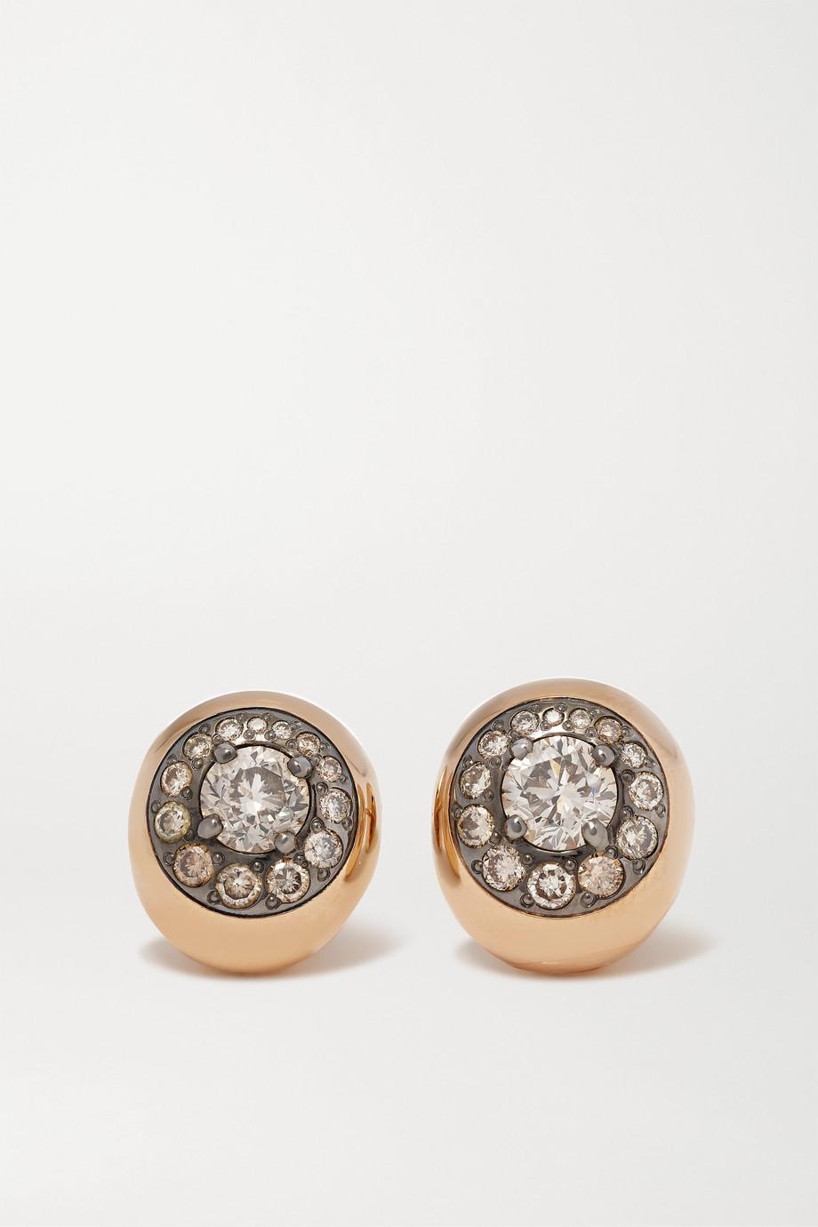 Pomellato Nuvola 18-karat rose gold diamond earrings
