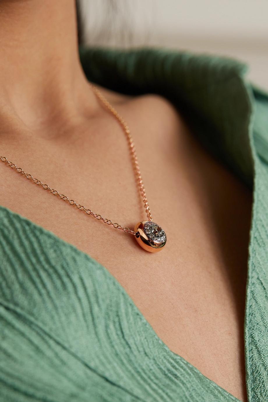 Pomellato Nuvola 18-karat rose gold diamond necklace