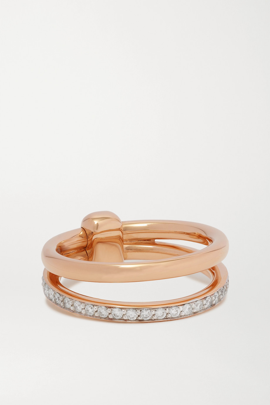 Pomellato Iconica 18-karat rose gold diamond ring