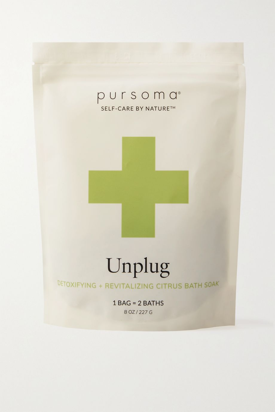 Pursoma Unplug Ritual Detoxifying + Revitalizing Lemon Verbena Bath Soak, 227g