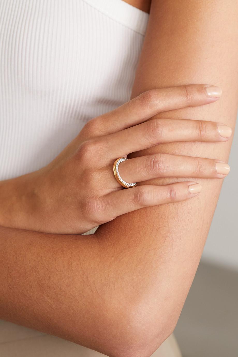 Delfina Delettrez Ring aus 18 Karat Gelb- und Weißgold mit Diamanten