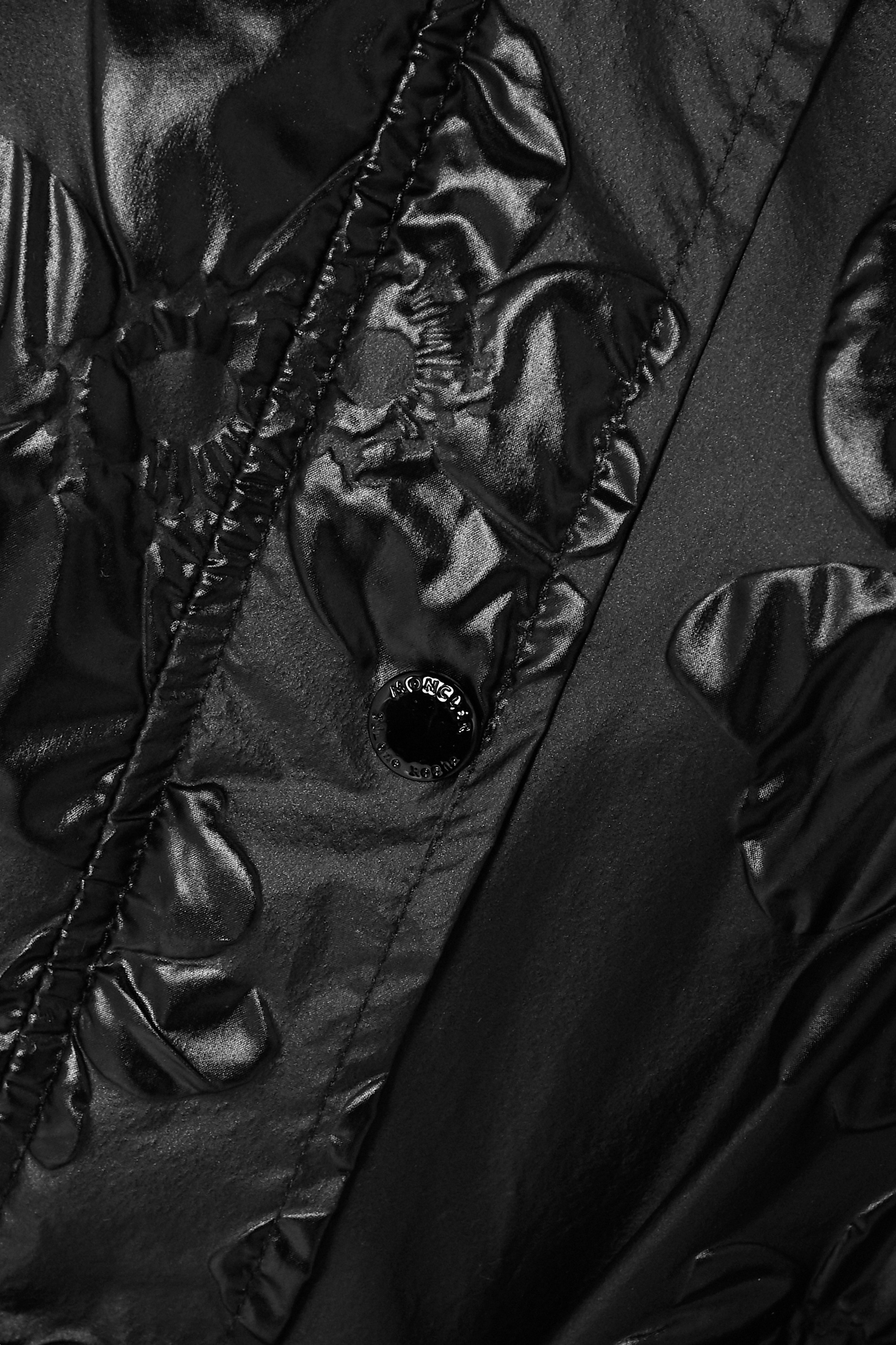 Black + 4 Simone Rocha Rapahelis Belted Floral-jacquard Shell Coat | Moncler Genius