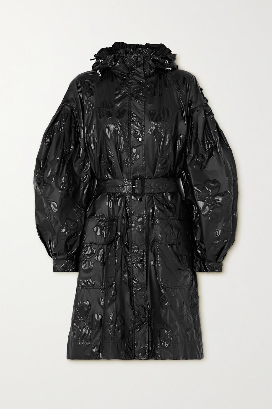 Moncler Genius + 4 Simone Rocha Rapahelis belted floral-jacquard shell coat