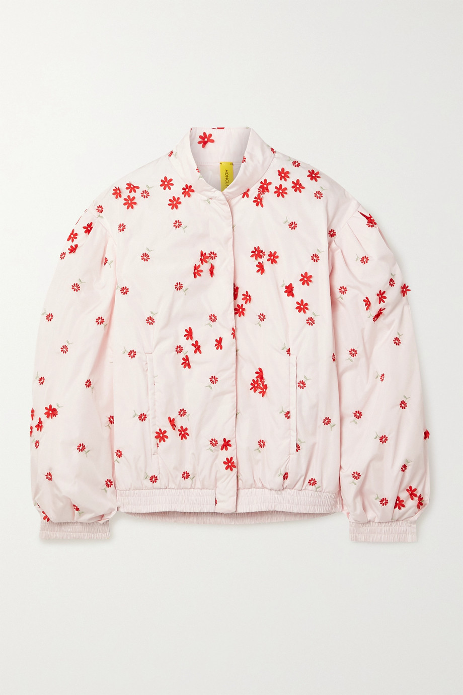 Moncler Genius + 4 Simone Rocha Persea appliquéd embroidered shell down bomber jacket