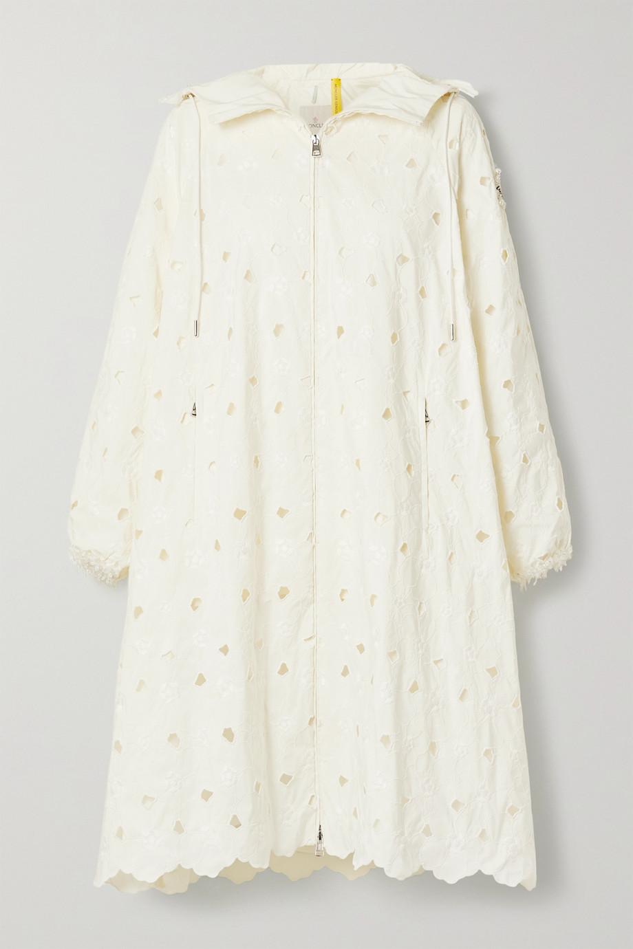 Moncler Genius + 4 Simone Rocha Zaleaia hooded bead-embellished embroidered shell coat