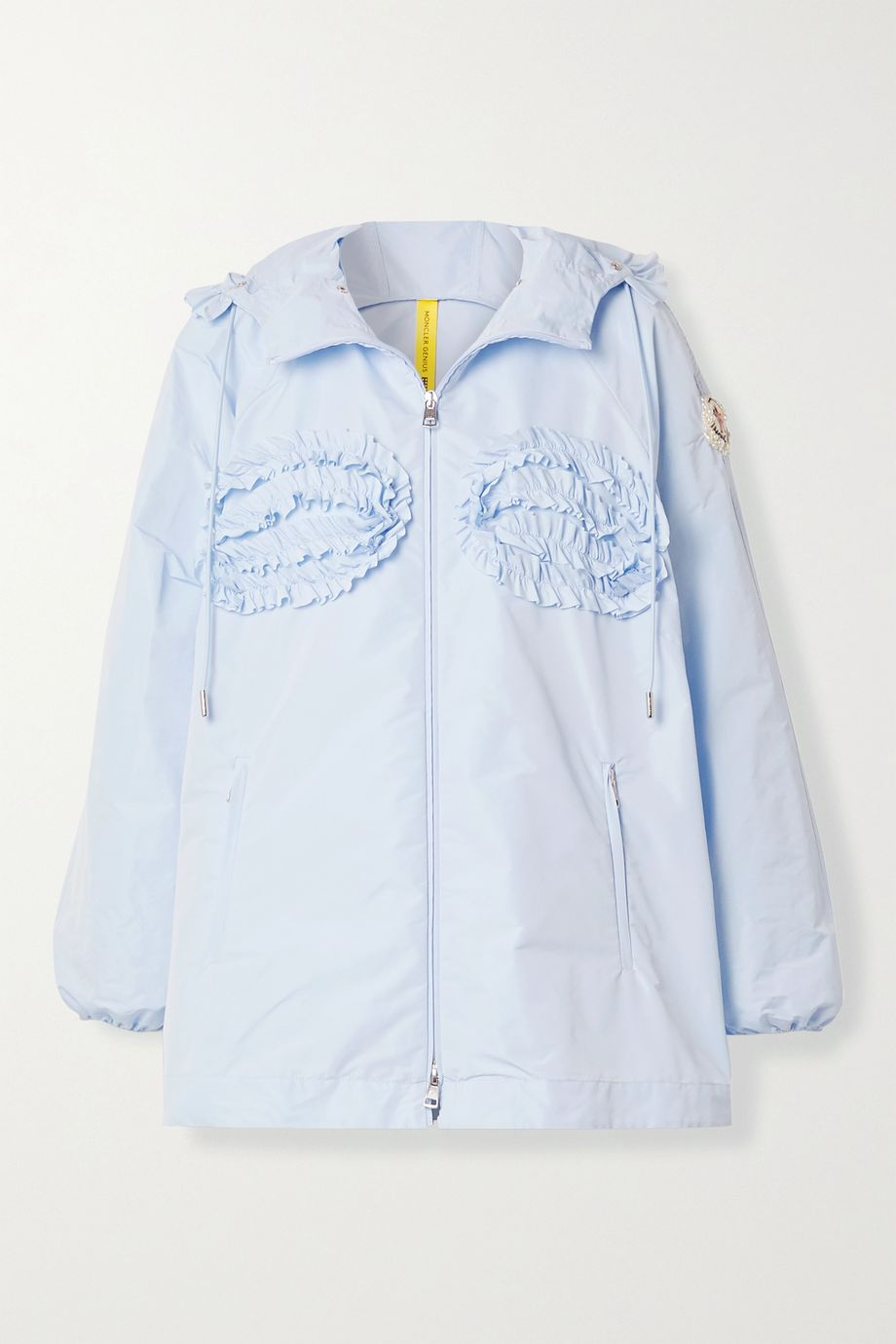 Moncler Genius + 4 Simone Rocha Nervillia hooded ruffled shell jacket