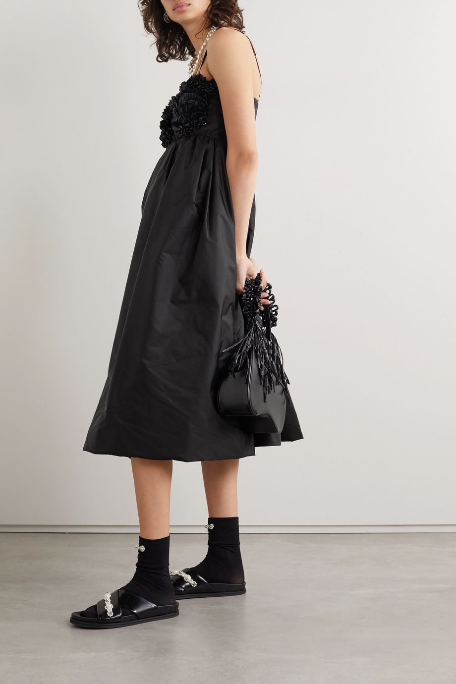 Moncler Genius + 4 Simone Rocha ruffled embellished shell down dress