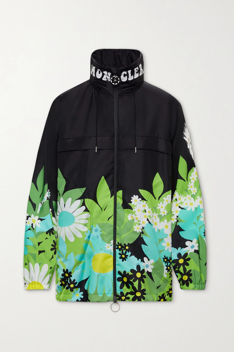 Black + 8 Richard Quinn Pat floral-print shell jacket  | Moncler Genius WlJY9o