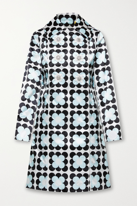 Moncler Genius +8 Richard Quinn Shirley embellished floral-print shell coat