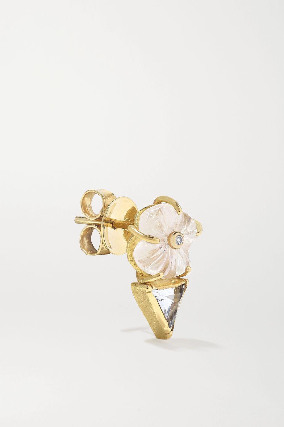 Brooke Gregson Boucles d'oreilles en or 18 carats et pierres multiples Blossom
