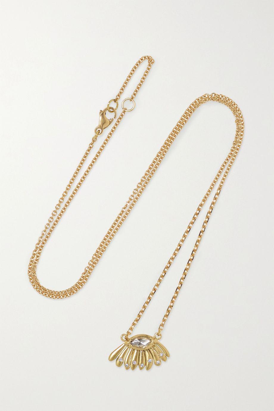 Brooke Gregson Daisy Dewdrop 18-karat gold diamond necklace