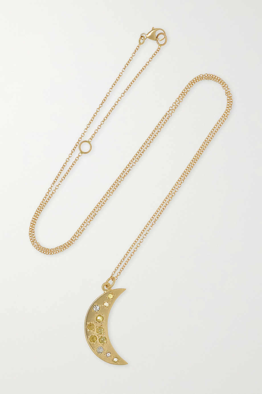 Brooke Gregson Crescent 14-karat gold diamond necklace