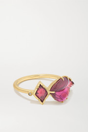 Maya 18-karat gold, tourmaline, spinel and diamond ring