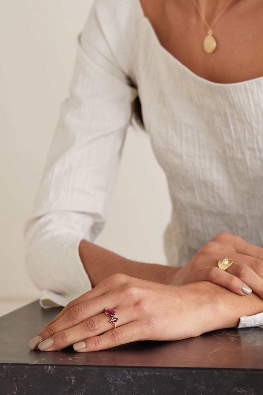 Brooke Gregson Maya 18-karat gold, tourmaline, spinel and diamond ring
