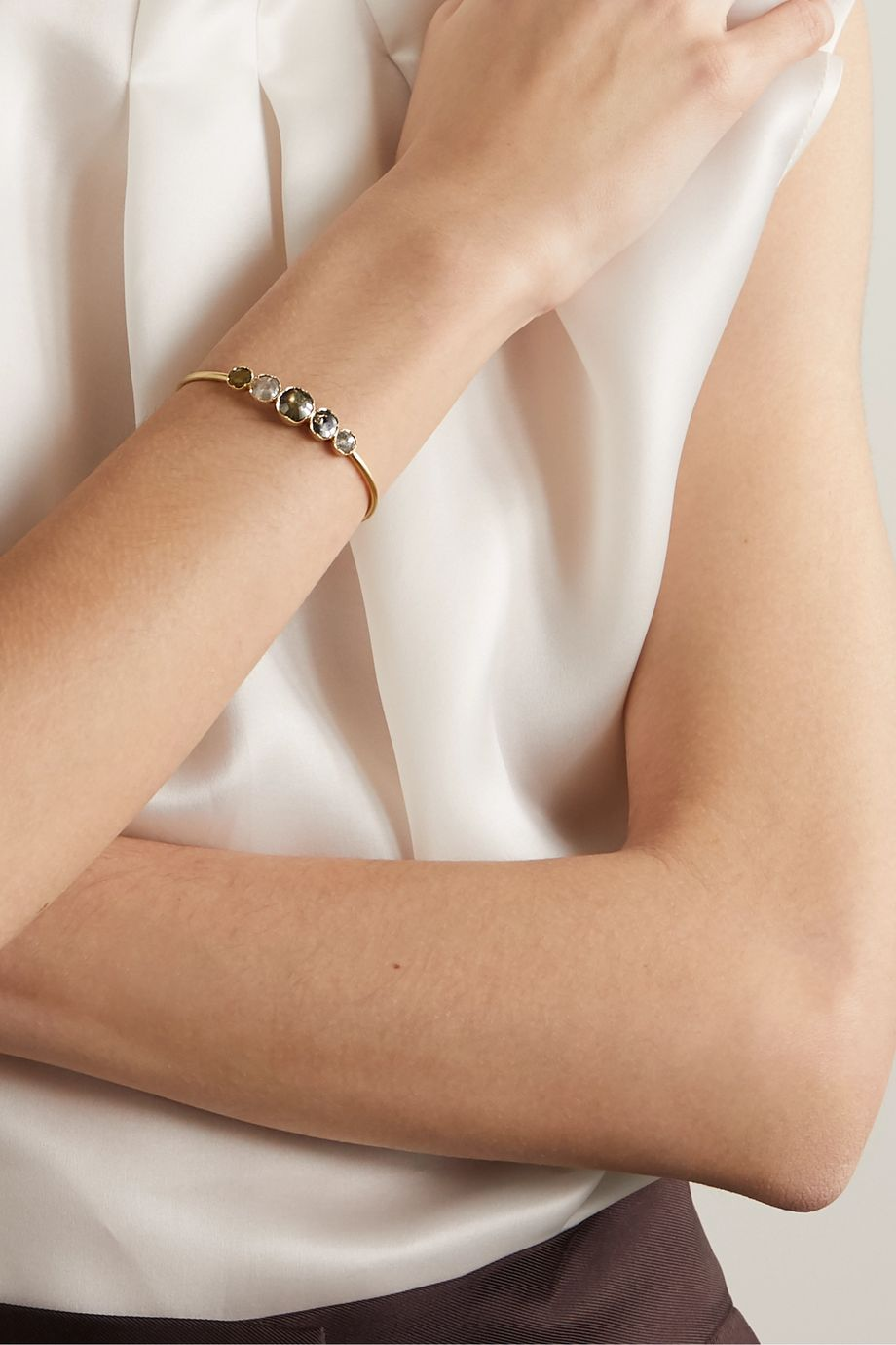 Brooke Gregson Orbit 18-karat gold diamond cuff