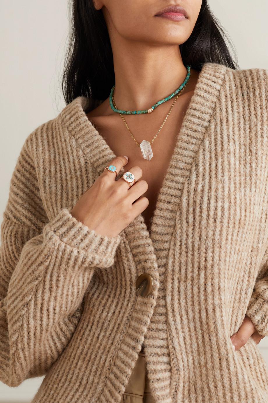 Pascale Monvoisin Prana N°1 9-karat gold, crystal and diamond necklace