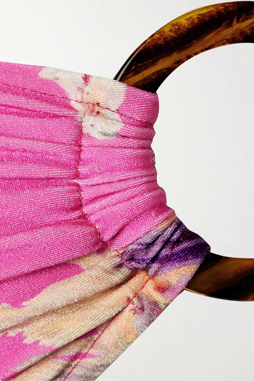 Fuchsia Haut De Bikini Bandeau À Imprimé Fleuri Et Ornement Grace | Patbo